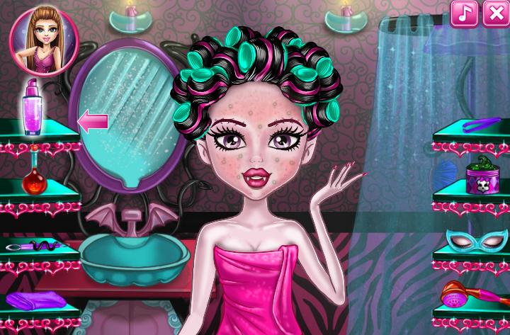 Игры макияж для девочек монстр хай
